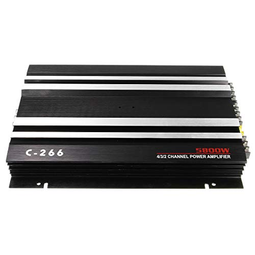 TS1 13.8V 5800W Black Sound Aluminum Alloy Audio Power Stereo 4/3/2 Channel Powerful Car Amplifier - Car Audio & Monitor Car Amplifiers - 1 X Car Amplifier]()