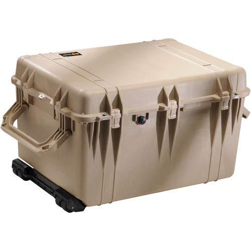 Pelican 1660 Watertight Hard Case with Cubed Foam & Wheels - Desert Tan [並行輸入品] B01MA4HHF6