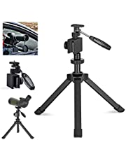 Gosky Heavy-Duty Table Top Tripod, Height Adjustable, Stable, with Car Window Mount, Used for Spotting Scopes & Monoculars & Binoculars & DSLR Cameras and Other Device