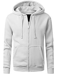 URBANCREWS Mens Hipster Hip Hop Long Sleeve Zip-Up Hoodie Jacket