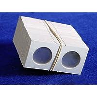 100 portamonedas de cartón 1.5x1.5 CUARTAS