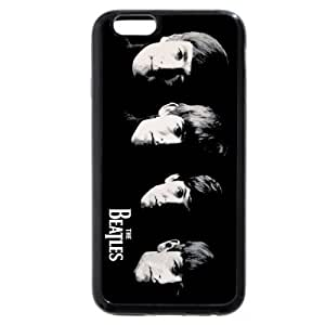 UniqueBox - Customized Black Soft Rubber(TPU) iPhone 6 4.7 Case, Popular Band The Beatles iPhone 6 case, Only fit iPhone 6(4.7 Inch)