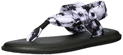 Sanuk Women's Yoga Sling 2 Print Vintage Flip Flop, Black Tye Dye, 8 M US Best Baby Slings Reviews
