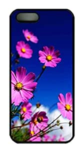 Cool Design Flowers Animated Printed Hard Plastic Case Shell Cover for iphone 6 plus Black PC Material