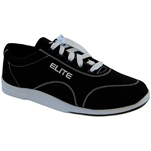 Elite Men's Casual Bowling Shoes - Quality & Comfortable - Universal Slide Sole for Left & Right Handed Bowlers (Size 8.5) Black