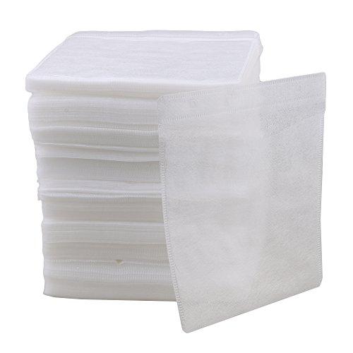 Mxfans 500pcs White OPP Plastic Double-Sided CD DVD Sleeves Window & Flap