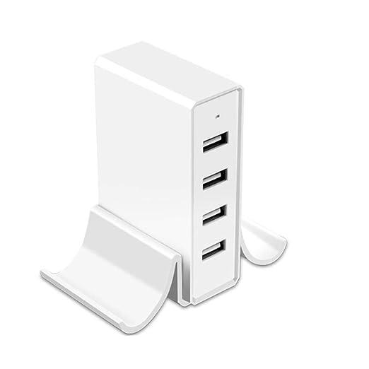 Xflelectronic Cargador USB de 4 Puertos, Cargador de ...