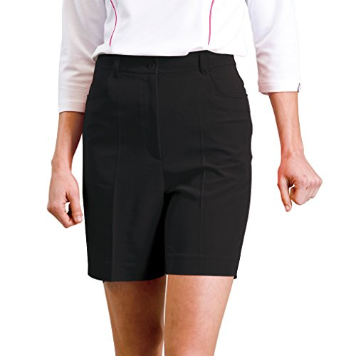 Monterey Club Ladies Stretchable Classic Shorts #2834 (Black, Size:16)