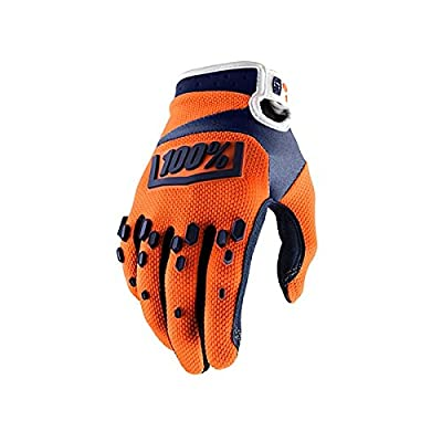 "100% Unisex-Adult Speedlab (10004-036-12)""AIRMATIC Glove Orange/Navy-Large: Automotive"
