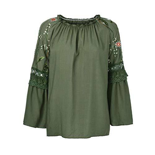 T shirt large Nero Da In Cotone Maniche Con Lunghe colore Dimensione Green Army A Xxx Donna rTrSxqd