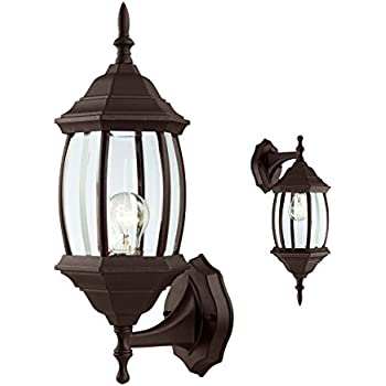 Outdoor Exterior Wall Sconce Lantern Light Fixture, Oil Rubbed Bronze