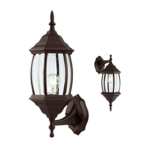 Outdoor Exterior Wall Sconce Lantern Light Fixture, Oil Rubbed Bronze (Bronze Exterior Wall Light Fixture)