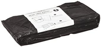 Janibell Polyethylene Continuous Waste Can Liner for 2-Gallon PRIVÉ Napkin Disposal System, Flat Seal, Black, 0.39 Mil, (Case of 10 Rolls, up to 30 Bags per Roll)