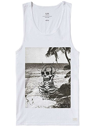 GLOBE TROPICALLY DISTURBED SINGLET WHITE CANOTTA SS 2016-S