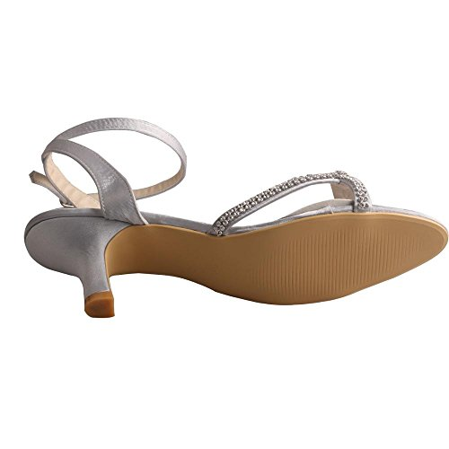 de mujer Zapatos Wedopus plata tacón pqXn4