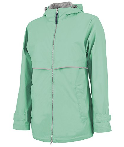 Charles River Apparel Women's New Englander Waterproof Rain Jacket, Mint/Reflective, Large (Jacket Coat Reflective)