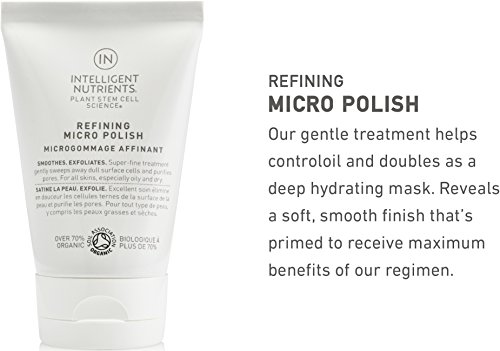 Intelligent Nutrients Refining Micro Polish - Exfoliating Facial Polish with Jojoba Beads and Plant Stem Cells for All Skin Types, Face Scrub (3.4 oz) by Intelligent Nutrients (Image #2)