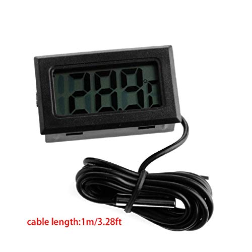 WHER LCD Display Digital Thermometer Sensor for Fridge/Aquarium/Fish Tank 3/6/10/16FT