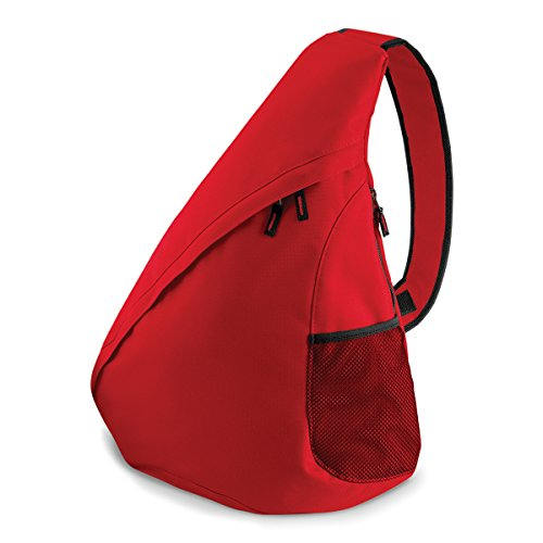 37x48x14cm BagBase Mochila de hombro universal monostrap 12L brillante Real Classic Red