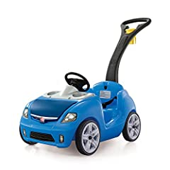 Seriously, push cars for toddlers just don't get any cuter than this blue Whisper Ride II by Step2. So get your little one ready for the ride of a lifetime! As far as ride on toys go, this one's got them all beat. First there's the sleek desi...