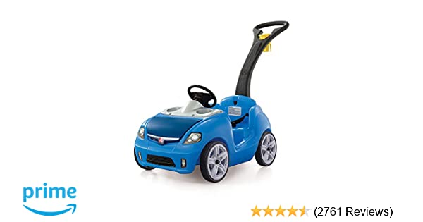 Amazon Com Step2 Whisper Ride Ii Ride On Push Car Blue Toys Games