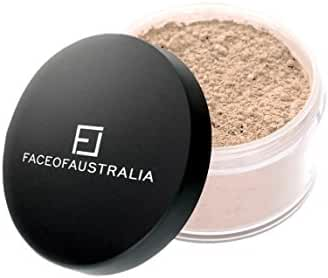 Face of Australia - Translucent Loose Powder - Made in Australia - Imported - 100% Cruelty Free - Finely Ground & Milled - Pressed Setting Powder - Your Makeup Will Last Much Longer - Eliminate Shine and Absorb Oil for a Fresh, Professional Finish.