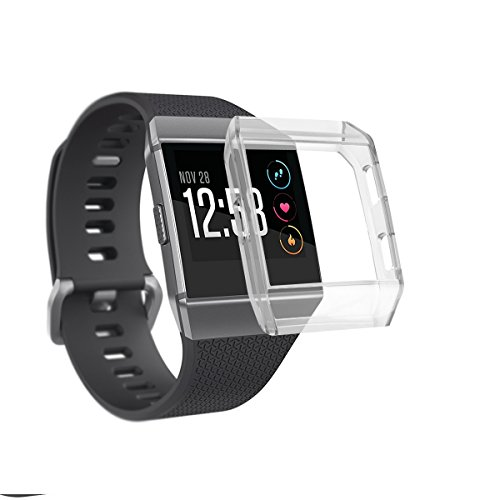 一晩予約ハンカチVICARA for Fitbit Ionic ケース 耐衝撃 TPU Fitbit Ionicのため保護するフレーム シンプルでおしゃれなシリコンケース 柔らかいフルカバー 全5色 (クリア)