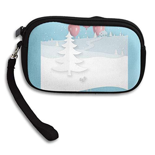 Bag Portable Deluxe Tree Purse Receiving Printing Snow Small 0axX77