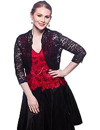 Women Elbow Sleeve Sequin Lace Bolero Jacket - Dressy Shrug
