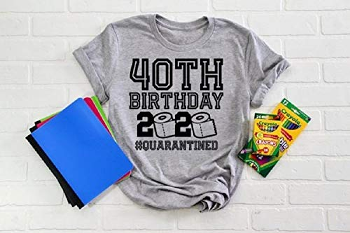 40 Birthday Shirt Quarantine Shirts The One Where I Was Quarantined 2020 Shirt 40th Birthday 2020 Quarantined Gift T Shirts Funny Tee Short Sleeve Women Men T Shirt Customized T Shirt Amazon Ca Handmade