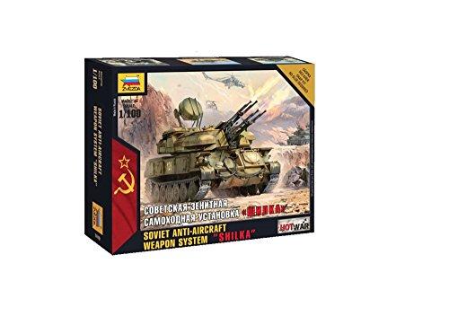 - Zvezda Models 1/100 Shilka Soviet Anti-Aircraft Weapon System Snap Fit