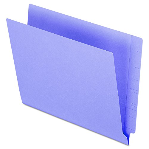 Pendaflex H110DPR Reinforced 2-Ply Folders, Straight Cut, End Tab, Letter Size, PE, 100 per Box (End Tab File)