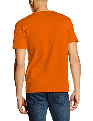 Fruit of the Loom Ss028m, Camiseta para Hombre Naranja (Orange)