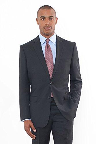 Combatant Gentlemen Men's Black Modern Fit Suit 44 Long Black ()