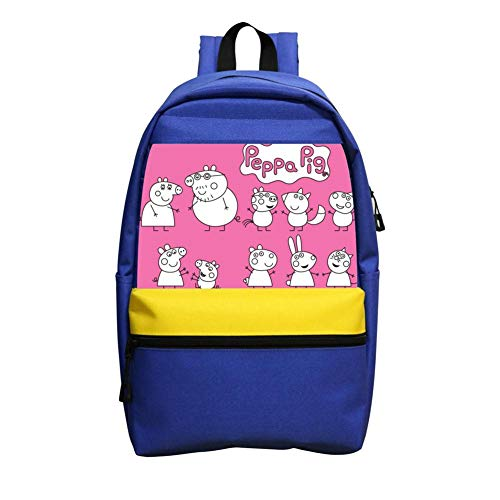 School Backpacks Pep-pa Pig Blue Children Shoulder Bags -