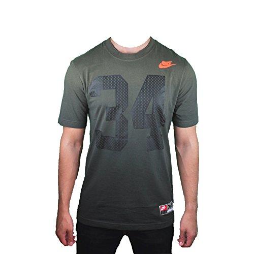 Nike Men's QT+S Lunar Trainer 1 Tee Cargo Khaki/Black/Hyper Crimson 659150-325 (SIZE: M)