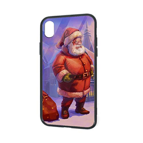 C-CASE Christmas Santa Holographic Retro Minimalist Luxury Durable Waterproof TPU Inner Shockproof Glass IPhoneXR Case