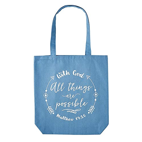 With God All Things Are Possible Tote - Bag Tote Religious Christian