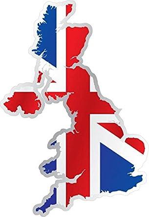 Großbritannien Karte Umriss.Selbstklebend Sticker Flagge Karte Anflais Uk Union Jack