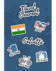 Travel Journal Calcutta: Travel Diary | 106 pages, 6x9 inches | To accompany you during your stay