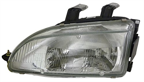 For Honda Civic 92-95 Left Driver Side Lh Headlight Headlamp New Lens & (Honda Civic Headlight Lh Driver)