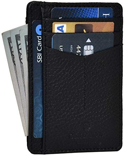RFID Front Pocket Slim Wallets- Genuine Leather Handmade Minimalist Credit Card Holder By Clifton Heritage (Wallets For Men By Amazon)