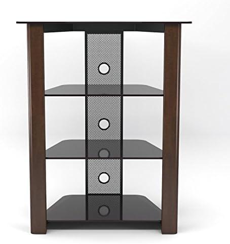 Gibson Living Room Decor Ashton Multi-Level Component Stand in Wood Espresso