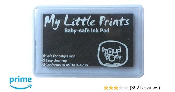 amazon com proudbody my little prints baby safe ink pad black