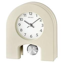 SEIKO CLOCK ( Seiko clock ) casual table clock ( Ivory ) PW426W PW426W