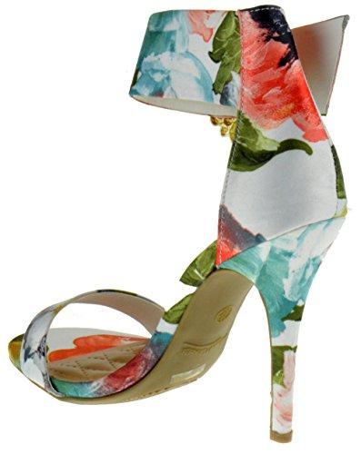 Anne Michelle Girltalk 23m Donna Open Toe Sandali Stiletto Sandali Bianchi Multi