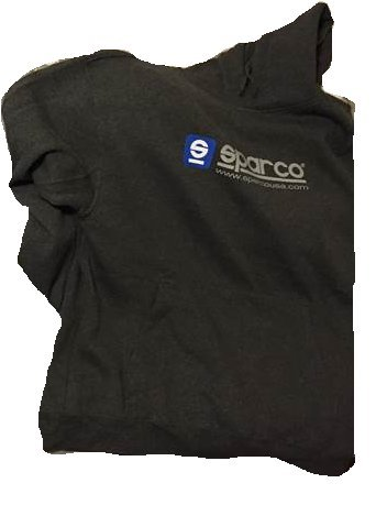 Sparco SP03100GR5XXL WWW XXL Grey Hooded Sweatshirt by Sparco (Image #1)