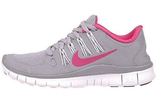 Nike Free 5.0+ 580591-002 Damen Laufschuhe grau/pink