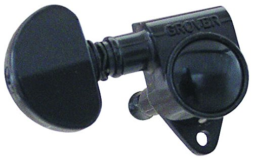 Grover 102BC Rotomatic 3 per Side Machine Heads, Black Chrome ()