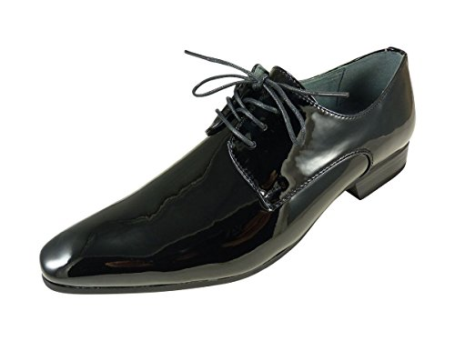 Noir Lacets Vernis À Homme Chaussure WvcnqY7Bx